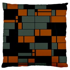 Rectangles in retro colors                              	Large Flano Cushion Case (Two Sides)