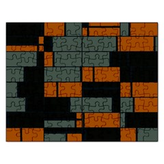 Rectangles in retro colors                              			Jigsaw Puzzle (Rectangular)