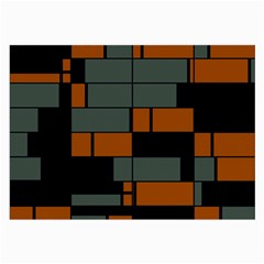 Rectangles in retro colors                              Large Glasses Cloth