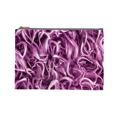 Textured Abstract Print Cosmetic Bag (Large)