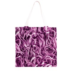 Textured Abstract Print Grocery Light Tote Bag