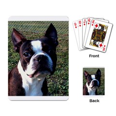 Boston Terrier Playing Card