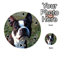 Boston Terrier Playing Cards 54 (Round)