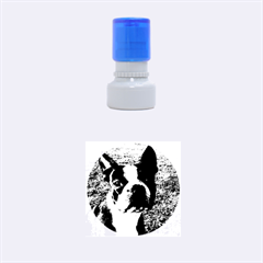 Boston Terrier Rubber Round Stamps (Small)