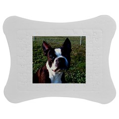 Boston Terrier Jigsaw Puzzle Photo Stand (Bow)