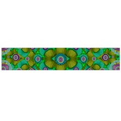 Peace Flowers In A Scandinavia Mix Of Acrylpaint Flano Scarf (Large)