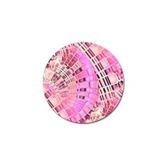 Pretty Pink Circles Curves Pattern Golf Ball Marker (4 pack)