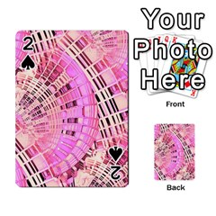 Pretty Pink Circles Curves Pattern Playing Cards 54 Designs