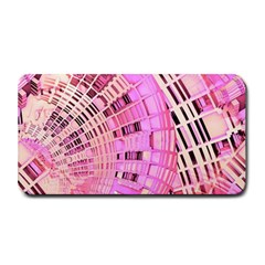 Pretty Pink Circles Curves Pattern Medium Bar Mat