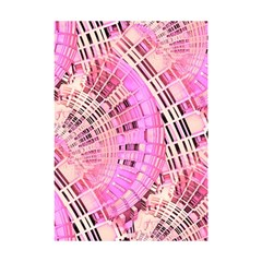 Pretty Pink Circles Curves Pattern Shower Curtain 48  x 72  (Small)
