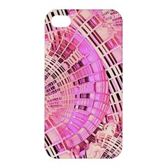 Pretty Pink Circles Curves Pattern Apple iPhone 4/4S Hardshell Case