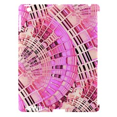 Pretty Pink Circles Curves Pattern Apple iPad 3/4 Hardshell Case (Compatible with Smart Cover)