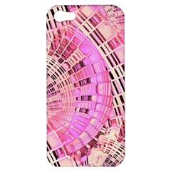 Pretty Pink Circles Curves Pattern Apple iPhone 5 Hardshell Case