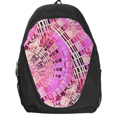 Pretty Pink Circles Curves Pattern Backpack Bag
