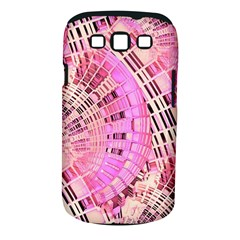 Pretty Pink Circles Curves Pattern Samsung Galaxy S III Classic Hardshell Case (PC+Silicone)