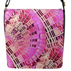 Pretty Pink Circles Curves Pattern Flap Closure Messenger Bag (S)