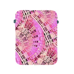 Pretty Pink Circles Curves Pattern Apple iPad 2/3/4 Protective Soft Case