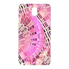 Pretty Pink Circles Curves Pattern Samsung Galaxy Note 3 N9005 Hardshell Back Case