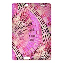 Pretty Pink Circles Curves Pattern Amazon Kindle Fire HD (2013) Hardshell Case