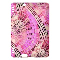 Pretty Pink Circles Curves Pattern Kindle Fire HDX Hardshell Case