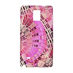 Pretty Pink Circles Curves Pattern Samsung Galaxy Note 4 Hardshell Case