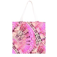 Semi circles abstract modern art pink Grocery Light Tote Bag