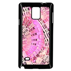 Pretty Pink Circles Curves Pattern Samsung Galaxy Note 4 Case (Black)