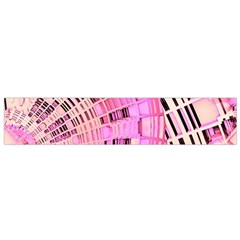 Pretty Pink Circles Curves Pattern Flano Scarf (small)