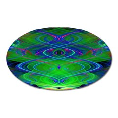 Neon Night Dance Party Oval Magnet