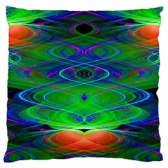 Neon Night Dance Party Large Cushion Case (Two Sides)