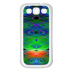 Neon Night Dance Party Samsung Galaxy S3 Back Case (White)