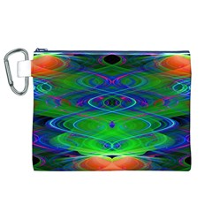 Neon Night Dance Party Canvas Cosmetic Bag (XL)
