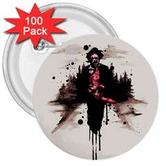 Leatherface 1974 3  Buttons (100 pack)