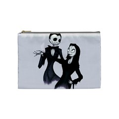 Jack & Sally Addams  Cosmetic Bag (Medium)