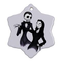 Jack & Sally Addams  Ornament (Snowflake)