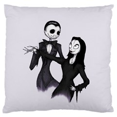 Jack & Sally Addams  Standard Flano Cushion Case (Two Sides)