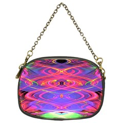 Neon Night Dance Party Pink Purple Chain Purses (Two Sides)