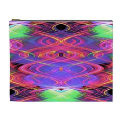 Neon Night Dance Party Pink Purple Cosmetic Bag (xl)