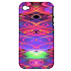 Neon Night Dance Party Pink Purple Apple iPhone 4/4S Hardshell Case (PC+Silicone)