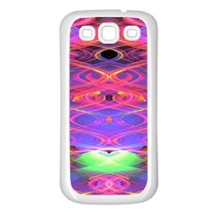 Neon Night Dance Party Pink Purple Samsung Galaxy S3 Back Case (white)