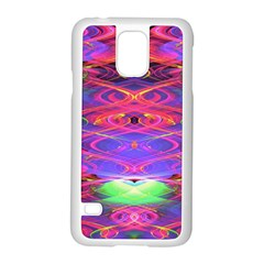 Neon Night Dance Party Pink Purple Samsung Galaxy S5 Case (White)