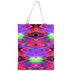 Neon Night Dance Party Pink Purple Classic Light Tote Bag