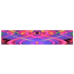 Neon Night Dance Party Pink Purple Flano Scarf (Small)