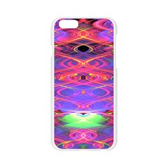 Neon Night Dance Party Pink Purple Apple Seamless iPhone 6/6S Case (Transparent)