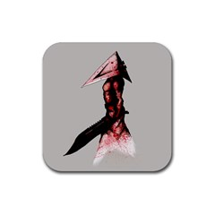 Pyramid Head Drippy Rubber Square Coaster (4 pack)