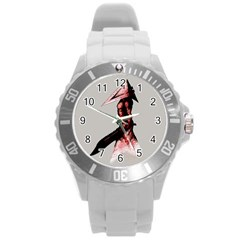 Pyramid Head Drippy Round Plastic Sport Watch (L)