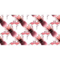 Flamingo Pineapple Tropical Pink Pattern YOU ARE INVITED 3D Greeting Card (8x4)