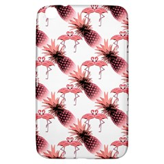 Flamingo Pineapple Tropical Pink Pattern Samsung Galaxy Tab 3 (8 ) T3100 Hardshell Case