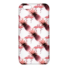 Flamingo Pineapple Tropical Pink Pattern iPhone 6/6S TPU Case