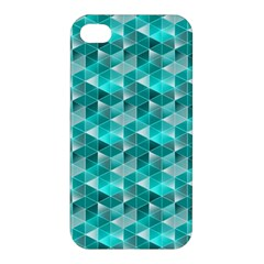 Aquamarine Geometric Triangles Pattern Apple iPhone 4/4S Premium Hardshell Case